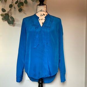 New York and Company blue blouse | Too